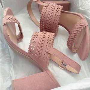LC Lauren Conrad mauve block heeled sandal